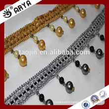 Stock products Beaded Tassel Fringe for curtain Accessory